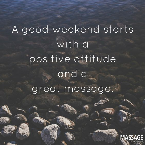 Good weekend great massage